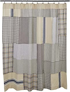 Piper Classics Mill Creek Patch Shower Curtain 72 X Farmhouse Style