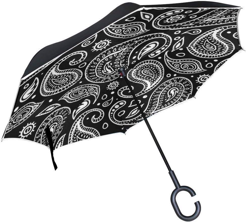 Bernese Mountain Dog Double Award Layer Inverted Large-scale sale Car Umbrella Reverse