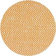 LinenTablecloth Round Chevron Placemats Orange