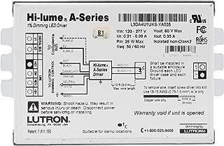 Lutron L3DAUKS-YA035 Hi-Lume 1% Dimmable LED Driver, 26-Watt, 60-Vdc, 120/277V