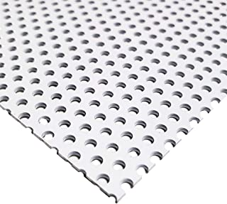 1//4 Round Hole Perforated Aluminum Sheet 6 x 6.063-1//16 Thick Type 3003-H14