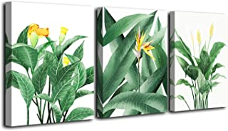 Vivipop Art Canvas Wall Art Green Leaf Flowers Plants Paintings 12