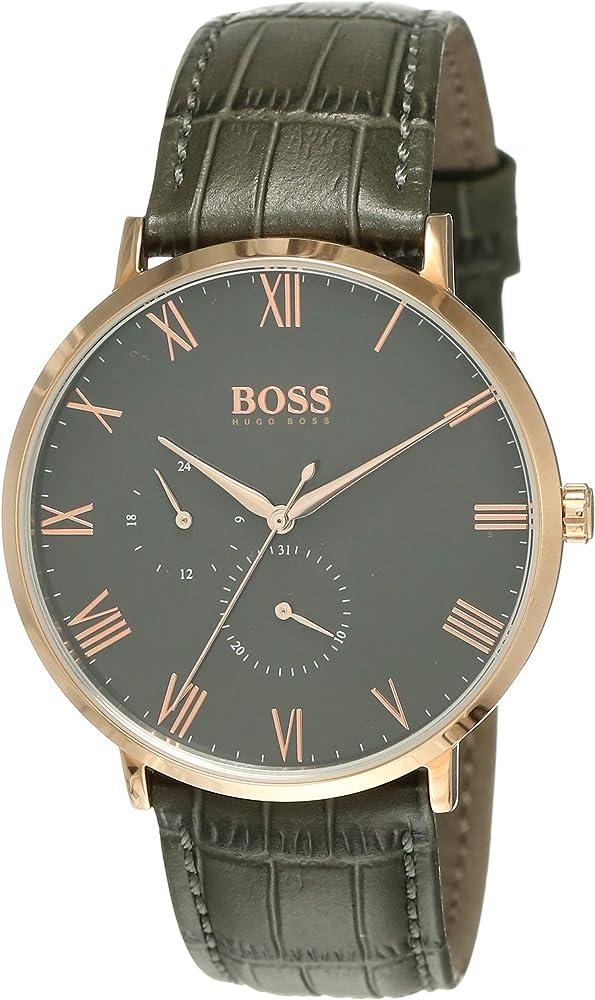 Hugo boss orologio multi-quadrante uomo con cinturino in pelle 1513619