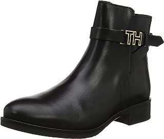 Chaussures bottines Tommy Hilfiger Getty en cuir daim camel