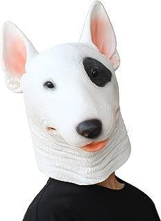 PartyHop - Bull Terrier Mask - Halloween Costume Latex Animal Dog Mask