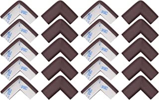 Store2508® Child Safety Corner Guards Cushion. 20 Pcs Pre Taped Corner Guards Cushion with Genuine 3M 9448A Tape for Baby Safety Child Proofing. (Brown)