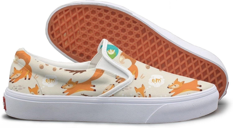 Little Cute Foxes Costume Canvas Sneakers Women