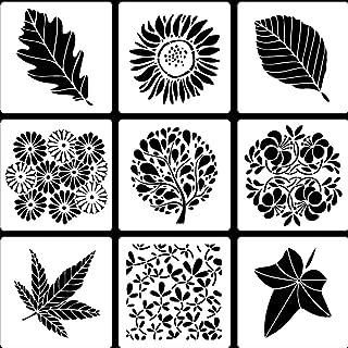 PATPAT® Reusable Stencils Tropical Leaf Stencils Laser Cut Painting Template Painting Stencil for DIY Walls Art Scrapbook(...