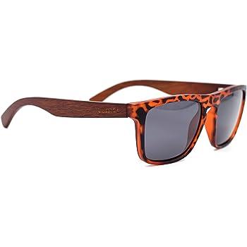 LEMIEL Holz Sonnenbrille aus Bambus mit polarisierten UV-Schutz Gl/äsern I Holzbrille inkl Etui aus edlem Bambusholz I Damen und Herren Sunglasses