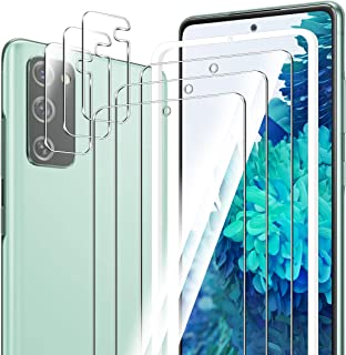 ELYCO [6 Pièces] pour Samsung Galaxy S20 FE/S20 FE 5G Verre Trempé + Caméra Arrière Protecteur, 9H Dureté Anti-Rayures ave...