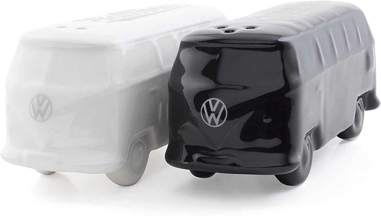 BRISA VW Collection VW T1 Bus 3D Salt Pepper Shakers White Black