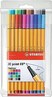 Stabilo point 88 cienkopisy w zestawie 20 różnych kolorach
