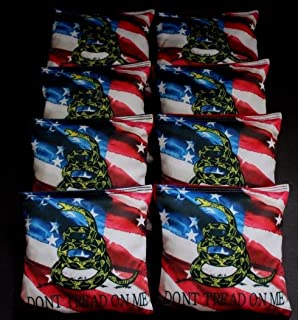 BackYardGamesUSA DONT TREAD ON ME American flag 8 ACA regulation custom Cornhole bags