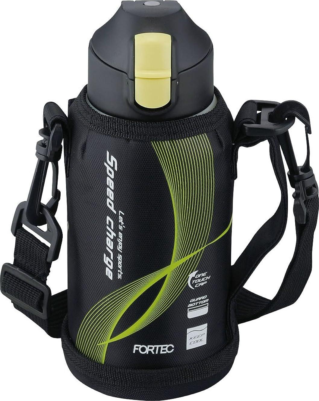 偏心食用スイス人和平フレイズ 水筒 ワンタッチ栓ダイレクトボトル 0.6L フォルテックスピード ブラック FSR-7925