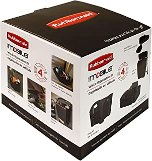 Rubbermaid 4-Piece Automotive Organization Set. Free your Dashboard, Front and Back Seat of Clutter with this Car Organizer. Perfect Storage for Auto Essentials and all other Extras.
