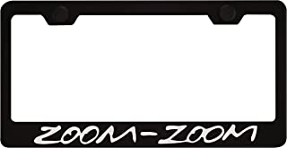 Zoom-Zoom Black License Plate Frame with Caps for Mazda