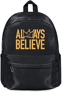 Womens Girl Boys College Bookbag Casual Nylon Packable School Backpack Always-Believe-LaBron- Bag Purse