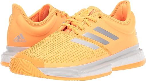 Flash Orange/Footwear White/Grey One F17