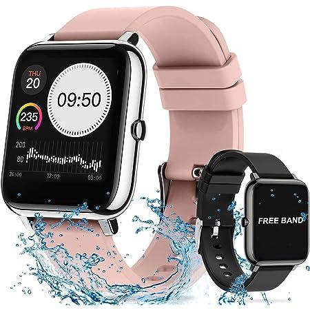 Smartwatch Pulsera Inteligente, 14in Reloj Deportivo Pantalla Táctil Completa, Pulsera Actividad Impermeable IPX7 Monitores de Actividad con Llamadas Telefónicas y Función de Reproducción de Música, Relojes Deportes Podómetro, Reloj para Mujeres