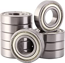 XiKe 10 Pcs 6206ZZ Double Metal Seal Bearings 30x62x16mm, Pre-Lubricated and Stable Performance and Cost Effective, Deep Groove Ball Bearings.