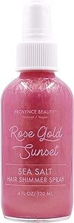 Sea Salt Hair Shimmer Spray - Shine & Glow Enhancing Rose Gold Sunset - 4 FL OZ   Provence Beauty