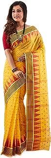 SareesofBengal Women's Jamdani Handloom Cotton Tangail Bengal Tant Saree