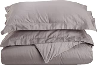 Superior 100% Premium Combed Cotton, 300 Thread Count 2 Piece Duvet Cover Set with 1 Pillow Sham, Single Ply Cotton, Soft ...