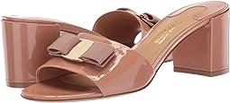 Calfskin Mid-Heel Sandal