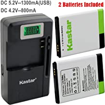 Kastar Galaxy S5830 Battery (2-Pack) and intelligent mini travel Charger ( with high speed portable USB charge function) for Samsung Galaxy Ace S5830, GT-S5830, GT-S5830i, GT-B7510 Galaxy Pro, GT-S5660 Galaxy Gio, GT-S5670 Galaxy, AT&T, T-Mobile, Sprint, Verizon Smartphone, Fit EB494358, EB-494358VU --Supper Fast and from USA