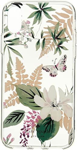 Kate Spade New York - Jeweled Botanical Clear Phone Case for iPhone® X