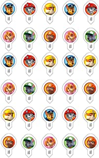 30x Modecor for PAW PATROL fans cupcake muffin cake decoration Pre-cut ready to use wafer shapes. 70573. Licensed Product.
