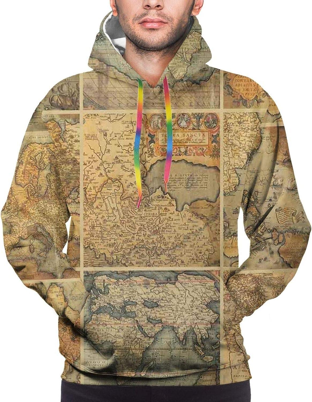 Men's Hoodies Sweatshirts,Collage of Wine Leaves On Bunch Farming Natural Rural Food Berry Image