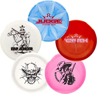 Dynamic Discs Premium 5 Disc Golf Set- Big Stamp Series | Premium Quality Frisbee Golf Discs | Special Edition Stamp Golf Discs | Colors Will Vary