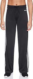 Adidas Women's Straight Fitted Knit 3 Stripes Long Pants