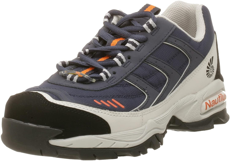 Nautilus Safety Footwear Specialty SD N1326 Men's Steel Toe Athletic Work Shoes, 9 W