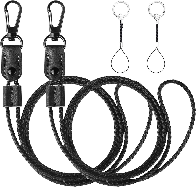 UTOPER Lanyards for Popular popular Keys 2 Pack Leather Lanyard Choice Braided fo Badge