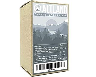 Altland Emergency Blankets 6 Pack (Silver)