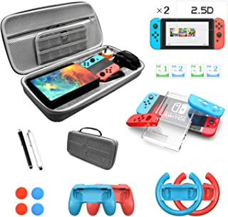 Nintendo Switch Accessories Bundle Kit Switch Carrying Case Protective Case nintendo switch bundle with Screen Protector S...
