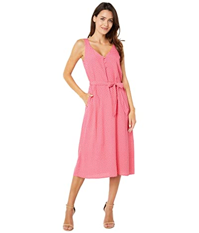 Joules Strappy V-Neck Dress w/ Covered Buttons