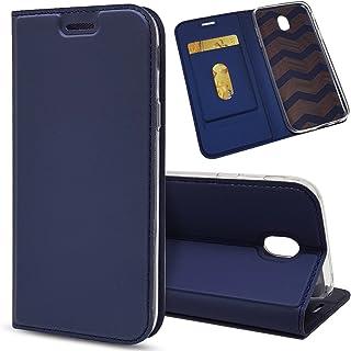LODROC Coque Galaxy J5 2017 Coque,Housse en Cuir Premium Flip Case Portefeuille Etui avec Stand Support et Carte Slot pour Samsung Galaxy J5 2017//J530F LOHH0500473 Bleu