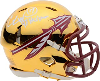 Charlie Ward Florida State Seminoles Autographed Riddell Chrome Speed Mini Helmet with