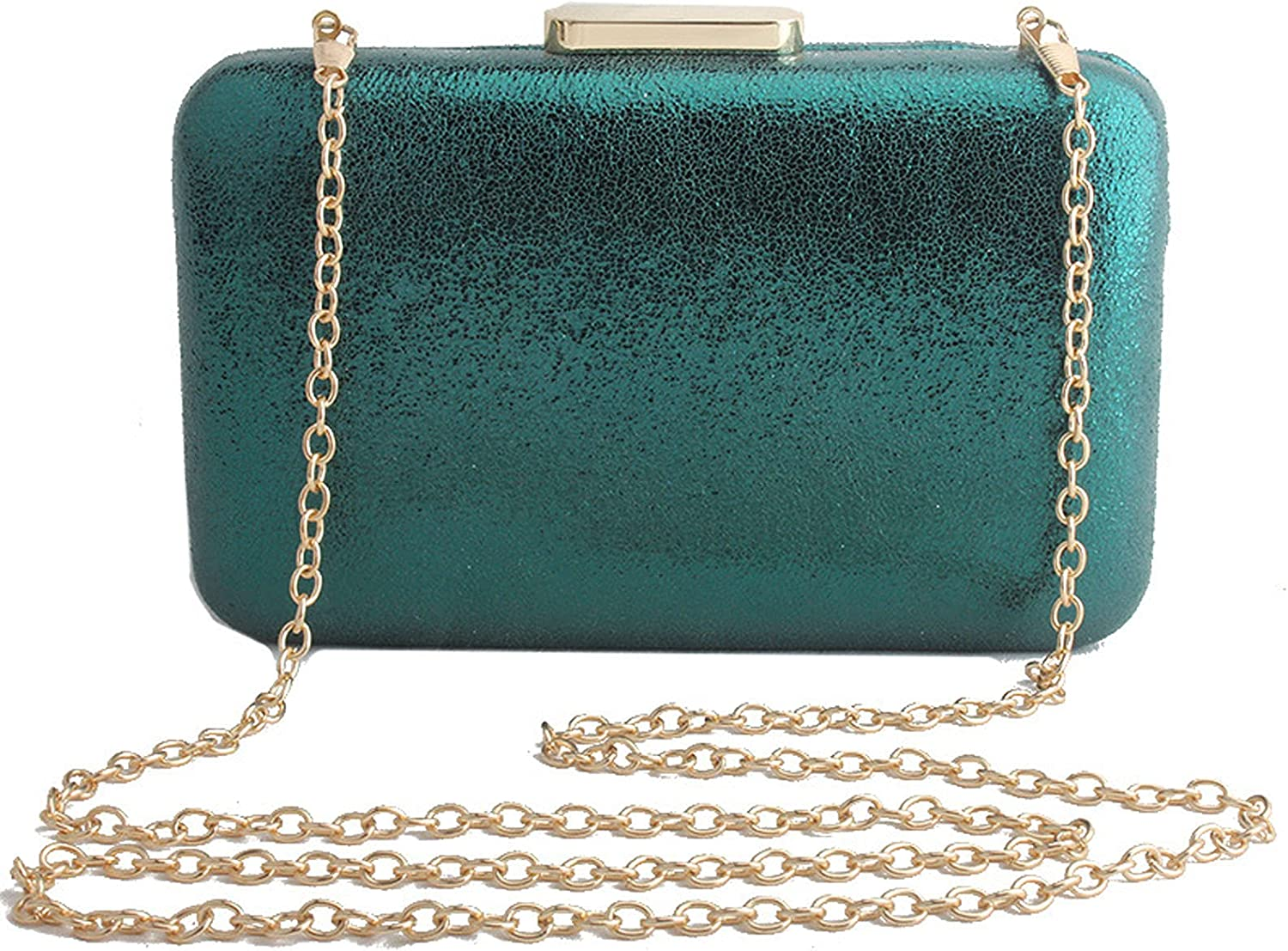 WANZPITS Womens Clutches and Evening Bags Cross-Body Bags Shoulder Handbags Purses for Wedding Cocktail Party,Green,19412cm