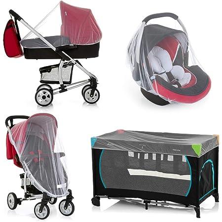 Hauck Protect Me Universal Insketenschutz Für Babyschalen Mückennetz Für Kinderwagen Buggys Und Reisebetten Moskitonetz Mit Gummizug Weiß Baby