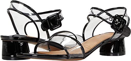 Black Patent/Clear