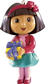 Dora With Present 2014 Carlton Heirloom Ornament by American Greetings