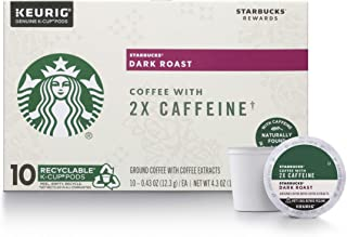 Starbucks Dark Roast K-Cup Coffee Pods with 2X Caffeine — for Keurig Brewers — 6 boxes (60 pods total)