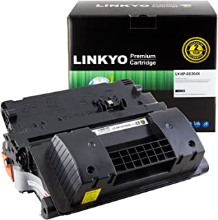 LINKYO Compatible Toner Cartridge Replacement for HP 64X CC364X (Black, High Yield)
