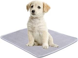 Easy-Tang ペット ベッド 犬 マット クッション 寝床 柔らかい3Dメッシュ材料 蒸れない 丈夫 洗えるシート ケージ用敷物 車内敷物 四季通用 小型犬 中型犬 大型犬 グレー (M:68*53cm)