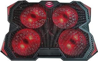 Laptop kylplatta 4 fläktar Laptop kylplatta för 12-17 tum Laptop Cooler Pad med LED Light Dual USB 2.0 portar