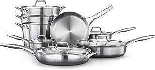 Calphalon 2052666 Premier Stainless Steel 13-Piece Cookware Set, Silver